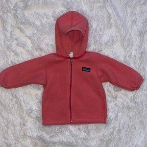 Patagonia Girls Size 6M Fleece Hooded Jacket